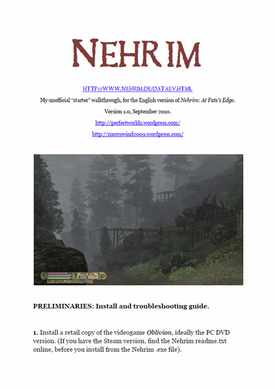 Click to download the Nehrim walkthrough